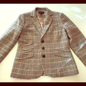Talbots sz 6 tweed blazer with elbow pads